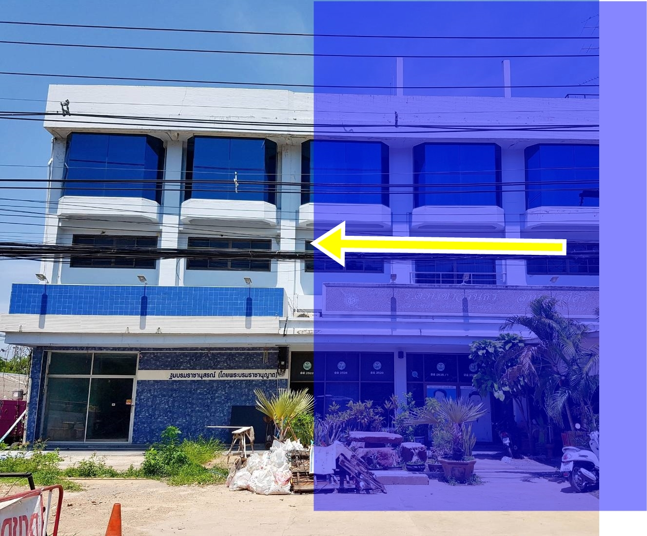 For SaleShophouseRatchaburi : ถูก ️ Cheap sale‼ ️ 3 storey commercial building for sale, 2 ditches in front of the building, good location next to Petchkasem road Opposite Chakri Memorial Park