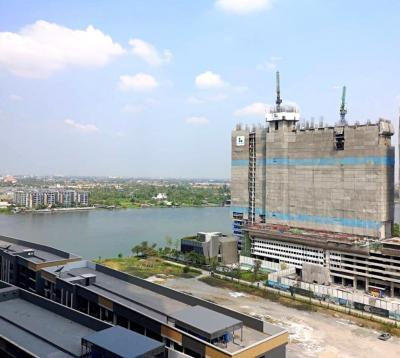 For RentCondoRattanathibet, Sanambinna : For rent, THE POLITAN RIVE Condo, The Poli Reef Condo, 17th floor, 24.5 sqm.