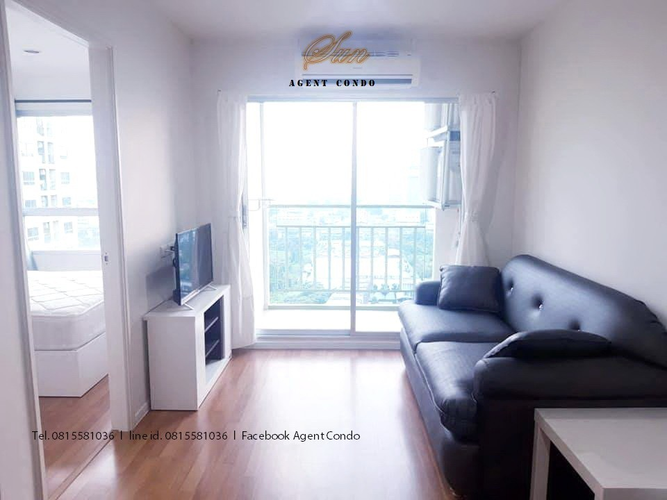 For RentCondoRama9, RCA, Petchaburi : For rent, Condo Lumpini Park Rama 9-Ratchada. (LPN Park rama9-ratchada) - Area 30 sq. M, Building B, Floor 21 - 1 bedroom, 1 bathroom, open kitchen, no view - fully furnished Ready to move in. Rental price 12,000 baht / month.