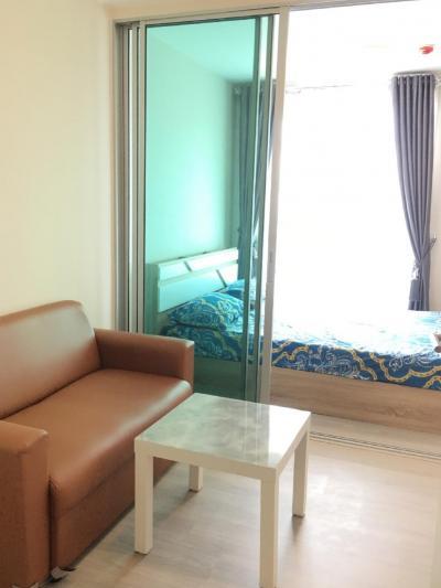 For RentCondoRamkhamhaeng, Hua Mak : For rent, Condo Ramkhamhaeng 60, 1 bed 1 bath, fully furnished, ready to rent. 7500 ฿