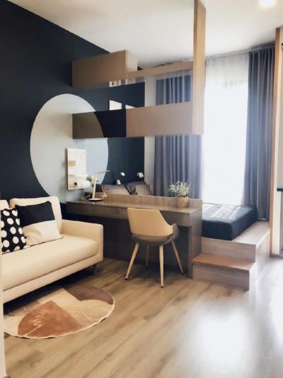 For RentCondoKasetsart, Ratchayothin : Rent Miti Chiva Kaset Station Luxurious central, fully furnished. 1 bedroom, 1 bathroom 28 sq.m., 7th floor 💰Rental price: 13,000 baht