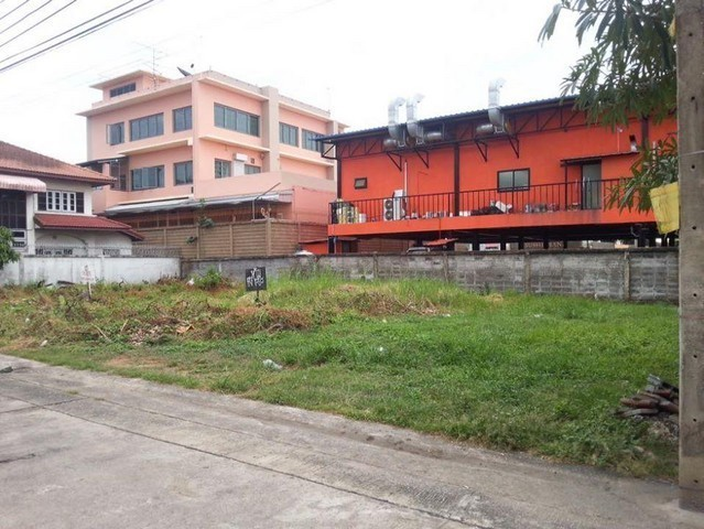 For SaleLandOnnut, Udomsuk : Land for sale in Soi Udom Suk 58, Rangsiya Village, near BTS Si Udom Behind Central Bangna, orange area