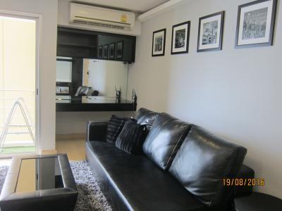 เช่าคอนโดพระราม 9 เพชรบุรีตัดใหม่ : My resort condo 1 ห้องนอนให้เช่า  แต่งครบพร้อมเครื่องใช้ไฟฟ้า
