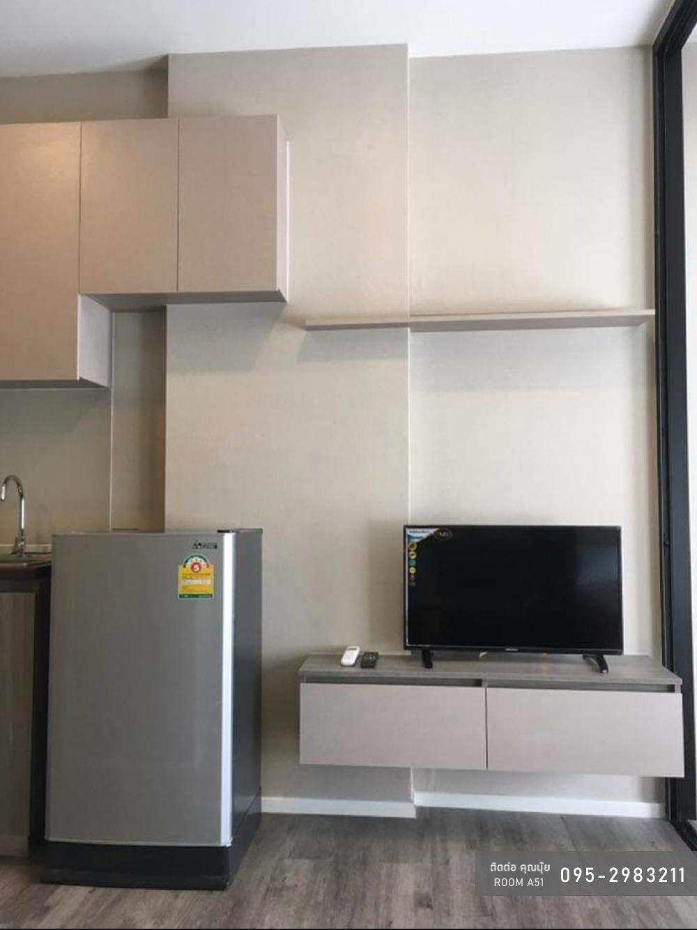 For RentCondoRatchadapisek, Huaikwang, Suttisan : [A51] Condo for rent Brown Ratchada 32 (Brown Condo Ratchada 32) Room size 24 sq.m., 6th floor, pool view, near MRT Lat Phrao
