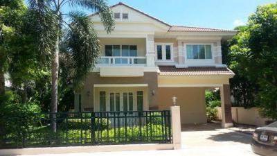 For RentHouseLadkrabang, Suwannaphum Airport : 2 storey detached house to rent, Perfect Place Village, Ramkhamhaeng 164 Private Zone