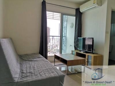 For RentCondoOnnut, Udomsuk : 2 Bedroom Apartment, 54 sq.m., 15th floor, Aspire Sukhumvit 48