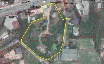 For SaleLandChonburi, Pattaya, Bangsa : Land for sale on Sukhukprayoon Road (Chon Buri-Phanat Nikhom Line) 9 Rai (next to property)