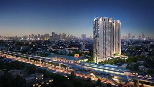 For SaleCondoSamrong, Samut Prakan : Urgent sale or rent, 12,000 / month, Ideo Sukhumvit 115 condo, luxurious decoration, fully furnished, fully furnished, close to the train, size 34.54 sq m, 19th floor, south
