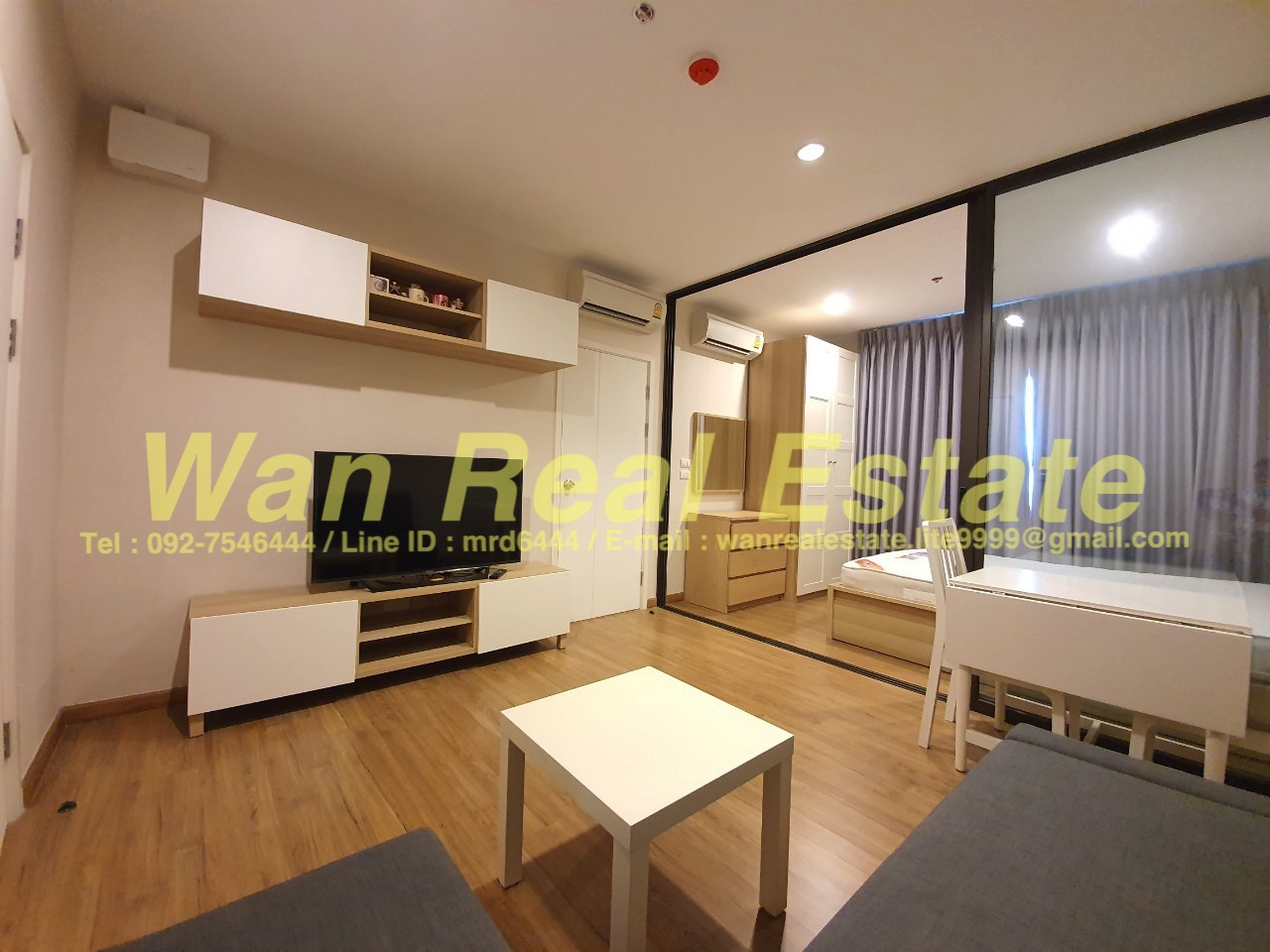 For RentCondoPinklao, Charansanitwong : The Tree rio condo for rent, Bang O Station, 31st floor, size 31 sq.m., fully furnished, mrt, free