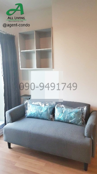 For RentCondoBangna, Lasalle, Bearing : Condo for rent, Lumpini Place Bangna, Km. 3, cheap, ready to move in