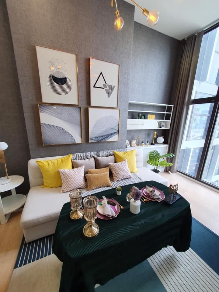 For RentCondoRama9, RCA, Petchaburi : +++ Quick rental +++ Duplex 2 floor Chewathai Residence Asoke *** 1 bedroom 33.48 sq.m., beautiful decoration, ready to move in !!!
