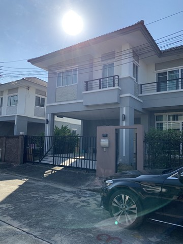 For SaleHouseLadkrabang, Suwannaphum Airport : AE0189 A detached house for sale The Plant Rama 9 - Ring Road 2, size 66 sq.w., 3 bedrooms, 3 bathrooms, plus a new kitchen, ikea whole set