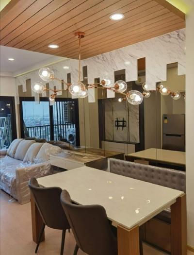 For RentCondoSukhumvit, Asoke, Thonglor : For Rent The Tree Sukhumvit 71 - Ekkamai 2 bed 2 bath 56.59 sqm. High floor, fully furnished.