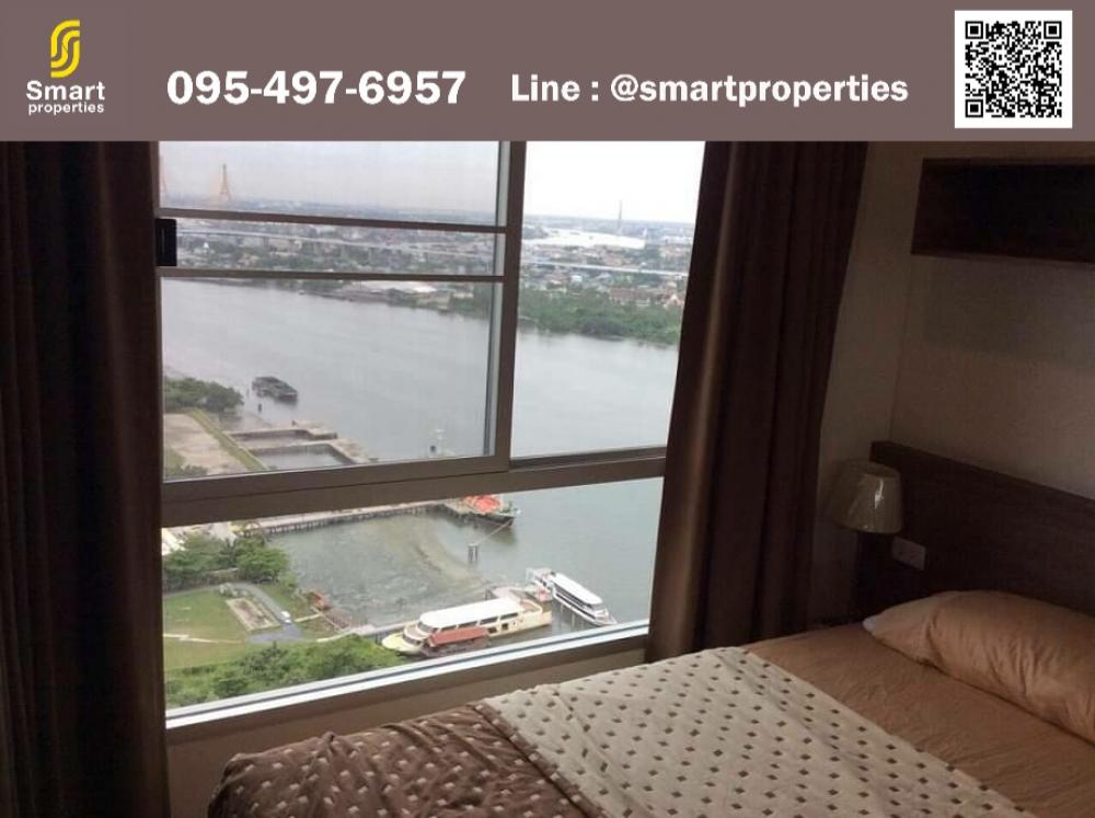 For RentCondoRama3 (Riverside),Satupadit : For rent, Lumpini Park Riverside-Rama 3 ** River view * 1 bedroom 1 bathroom ** River view ** 35th floor, 32 sqm. Fully furnished and electric appliances.