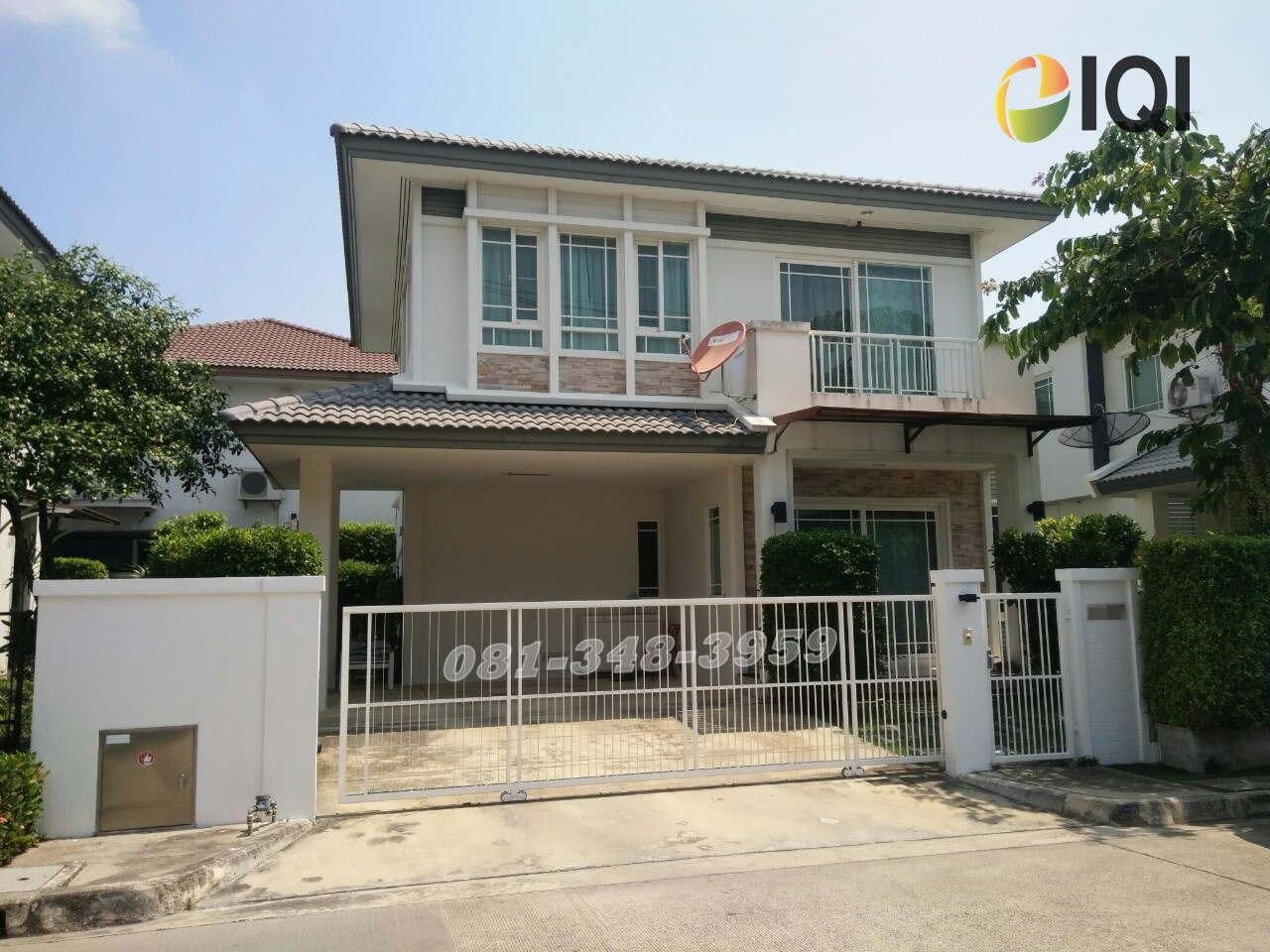 For SaleHousePattanakan, Srinakarin : 2-storey detached house for sale in Manthana Village, Rama 9 - Srinakarin, Soi Krungthep Kreetha 7, near Airport Link Hua Mak Station