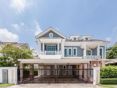 For SaleHouseBangna, Lasalle, Bearing : Luxury British style house on Bang Na-Trat road, 519 sq. M.