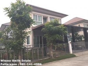 For RentHouseSamrong, Samut Prakan : House for rent near Big C Bang Phli Villa Nova Thepharak, Tamru Road, Samut Prakan, fully furnished, ready to move in