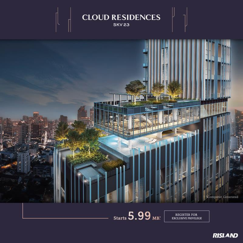 For SaleCondoSukhumvit, Asoke, Thonglor : Condo for sale in the heart of the city, Cloud residences sukhumvit 23, near BTS Asoke station
