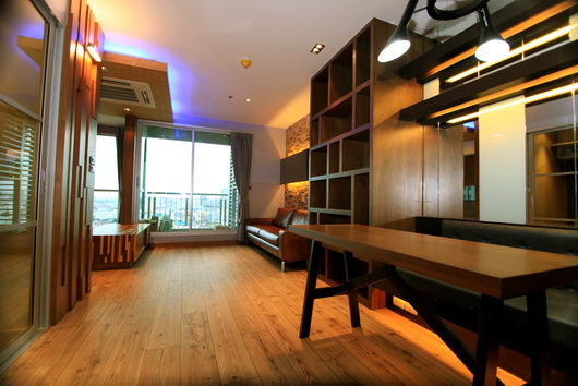 For RentCondoRatchadapisek, Huaikwang, Suttisan : Rhythm Ratchada-Huaykwang for rent, 1 bedroom 46.5 sq.m., built-in, fully furnished, luxury