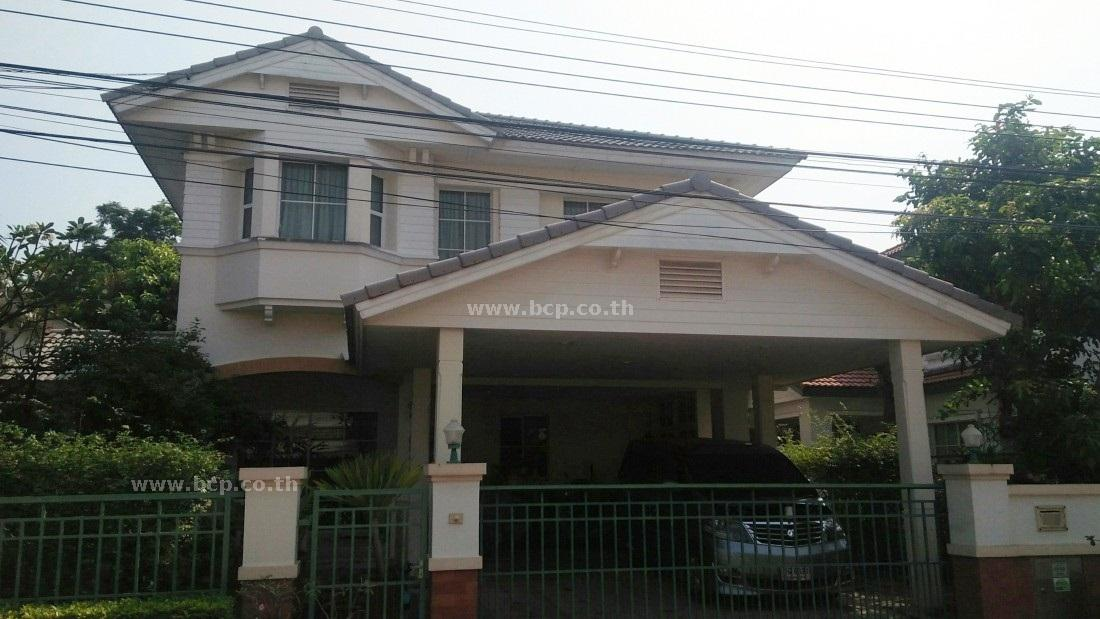 For SaleHouseLadkrabang, Suwannaphum Airport : Sell Manthana Village, Sukhaphiban 2 Road, Prawet, Ready to move in. Beautiful house, good location, convenient transportation.