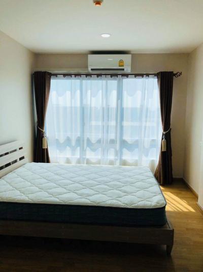 เช่าคอนโดรังสิต ธรรมศาสตร์ ปทุม : ให้เช่าห้องใหญ่ 30 ตรม.เหมาะกับการอยู่ 2 คนแบบไม่อึดอัด ที่คอนโด BE Condo เดินไป ม.กรุงเทพ ได้ เพียง 600 เมตร