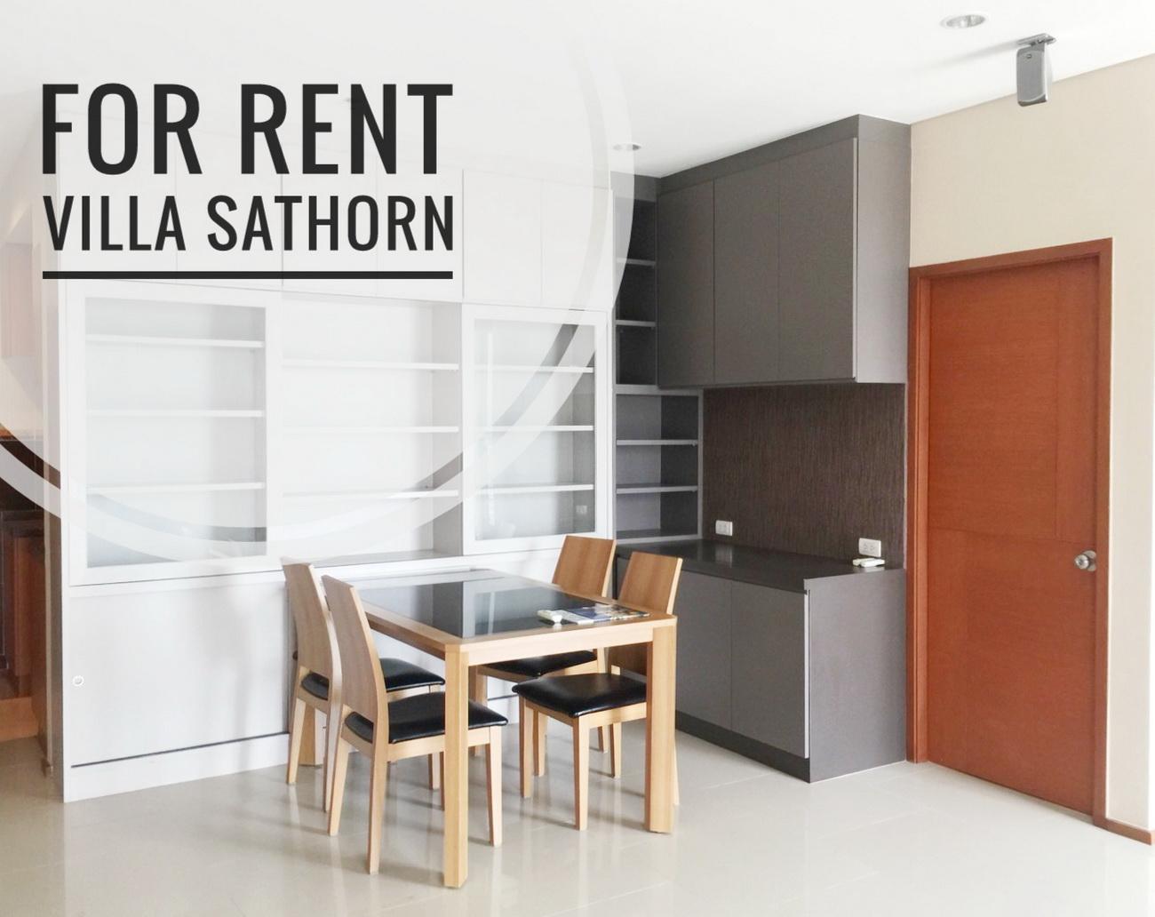 For RentCondoWongwianyai, Charoennakor : ((For Rent)) Villa Sathorn, near BTS Krung Thonburi Station, high floor, 2 bedrooms