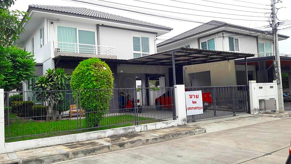 For SaleHouseBangbuathong, Sainoi : House for sale, good condition, ready to move in Kanchanaphisek - Bang Yai Selling below appraised value