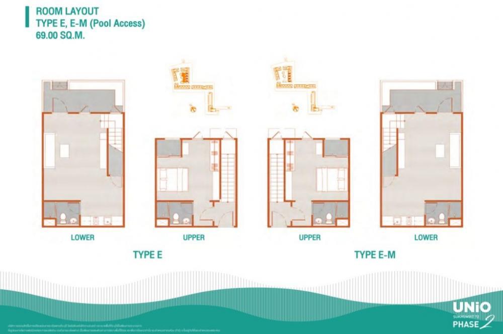 ขายดาวน์คอนโดบางนา แบริ่ง : ขายห้องใหม่จากโครงการ 2 br.Duplux 71 sqm.  เพียง 4.39
