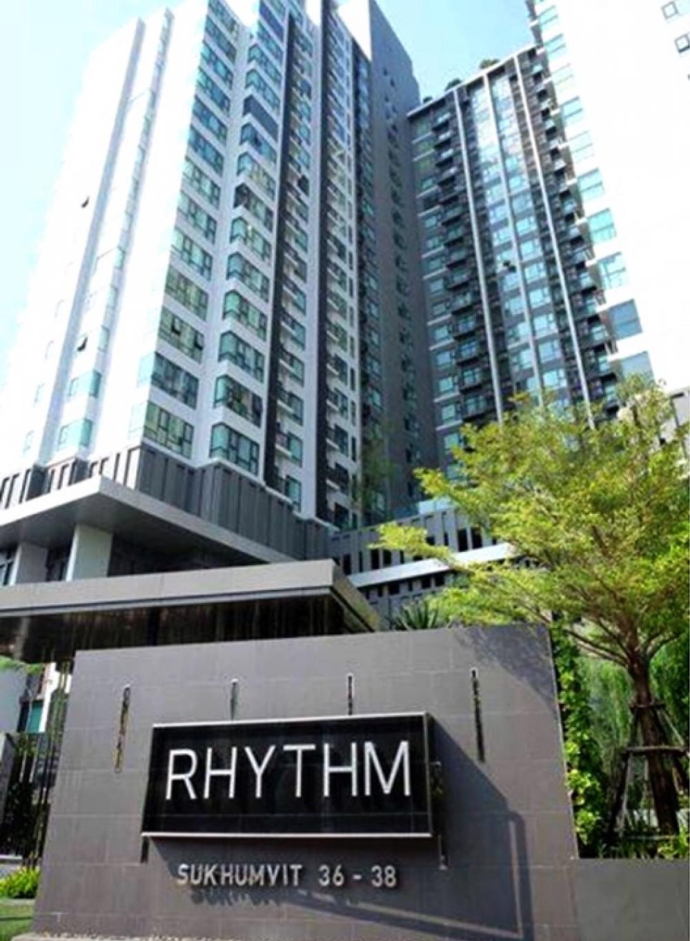 For SaleCondoSukhumvit, Asoke, Thonglor : Rhythm Suk 36-38🔥, super hot condo in Ekkamai area, good rent, rental fee 700-800 baht per square meter