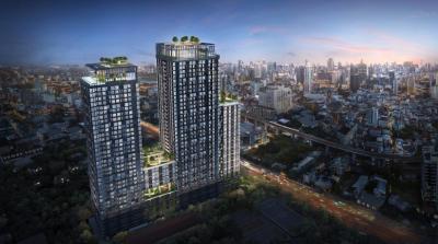 Sale DownCondoRatchathewi,Phayathai : ❎ XT Phayathai ❎ 【1 Bed 49.75 sq.m.】 Building 1 ♦ South ♦ City view ♦ No block ▶ 8.5X million