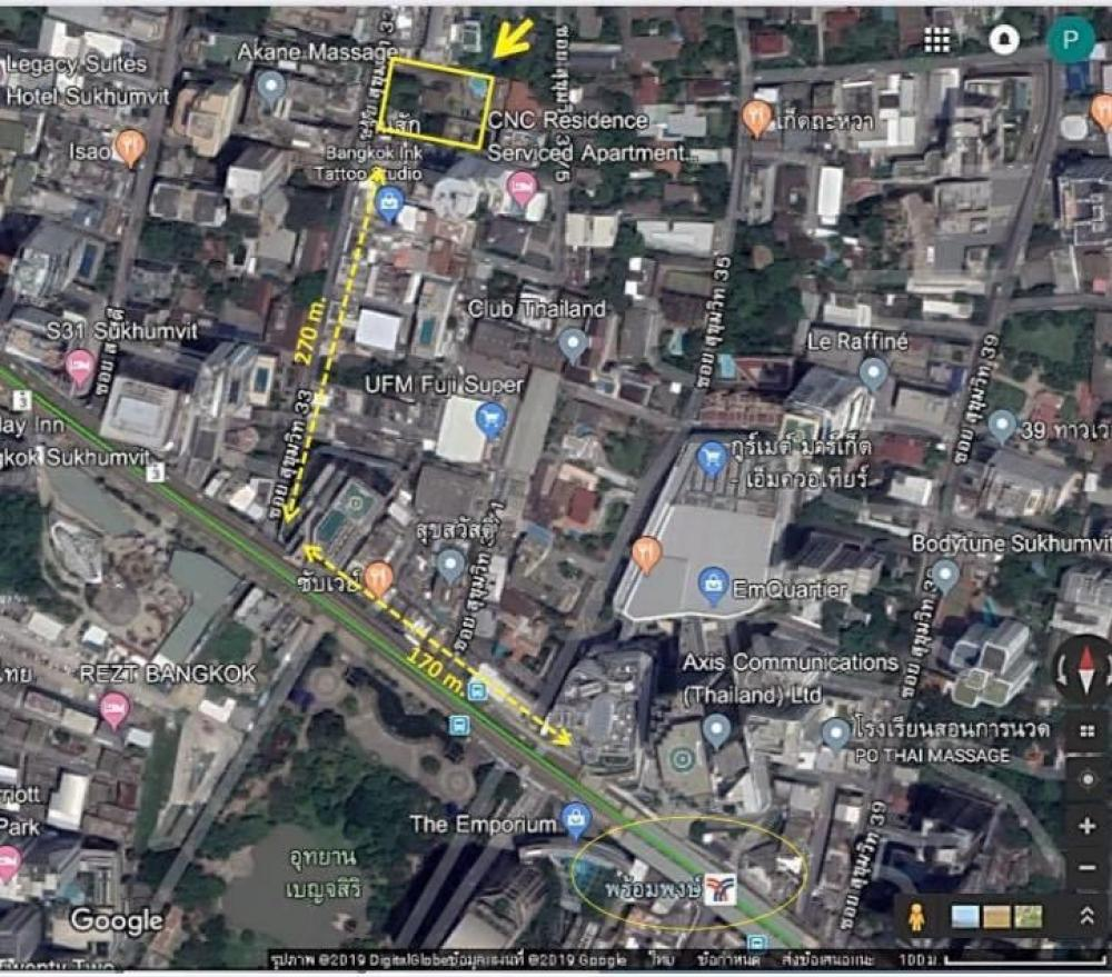 For SaleLandSukhumvit, Asoke, Thonglor : Land for sale, Soi Sukhumvit 33, Beautiful plot of land Can rise to a tall building Near to the EmQuartier, Emporium Department Store, Gold location. Very rare. There is only a certain price.