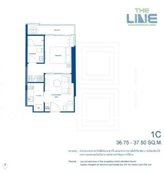 Sale DownCondoLadprao, Central Ladprao : For Sale  The Line Phahonyothin Park (36.75 sqm.)