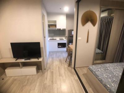 For RentCondoRama9, RCA, Petchaburi : For rent, The Privacy Rama 9, size 23 sqm. 1 bedroom, 1 bathroom # Floor 26 #, Rental price 10,000 (new room, beautiful view)
