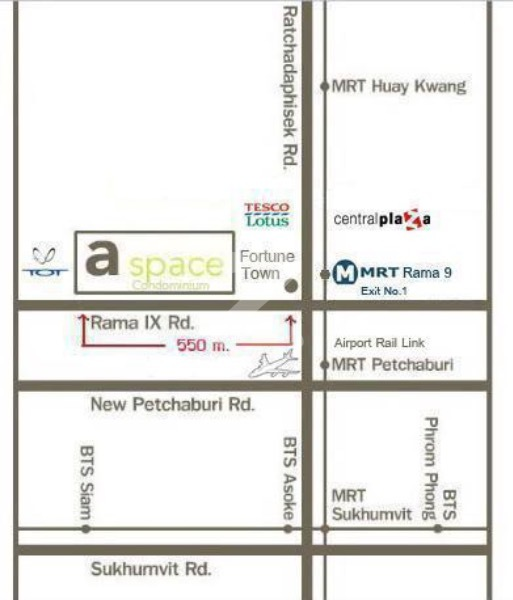 For SaleCondoRama9, RCA, Petchaburi : ขาดทุน Quick sale ** A-Space condo, Building E, 4th floor, owner sell by LineID: Jet987