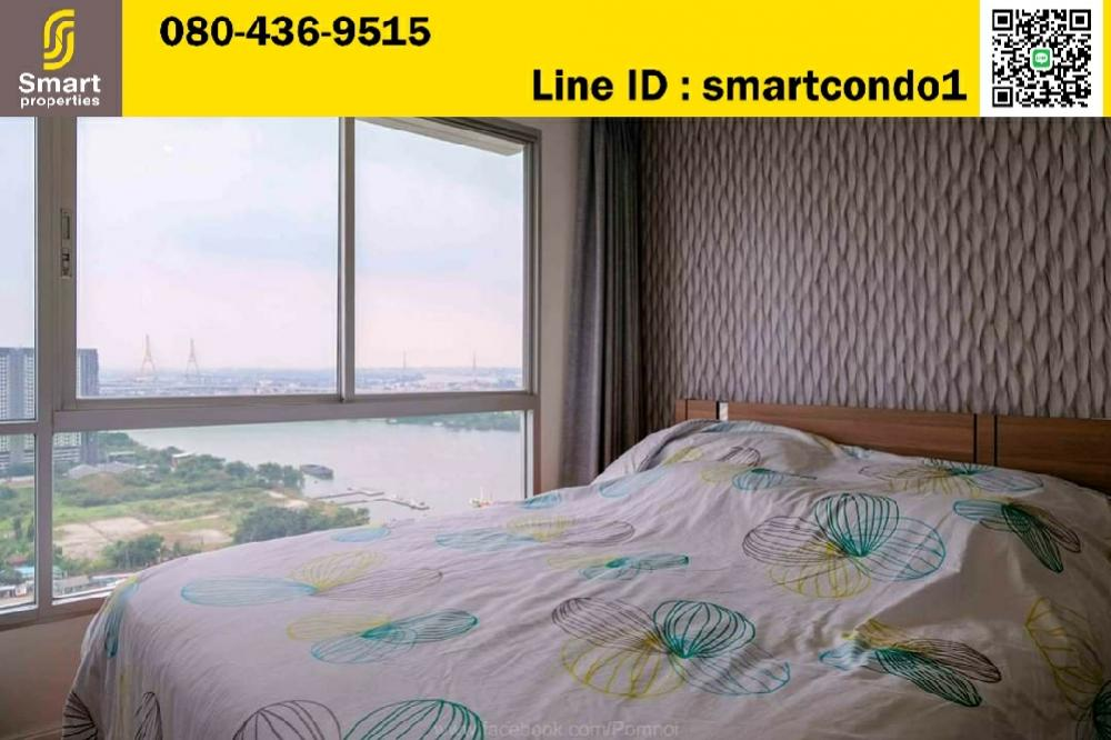 For RentCondoRama3 (Riverside),Satupadit : For rent Lumpini Park Riverside - Rama 3 1 bedroom 1 bathroom ** River view ** Furniture and appliances complete 32 sqm. 28th Floor, Building D with closed kitchen.