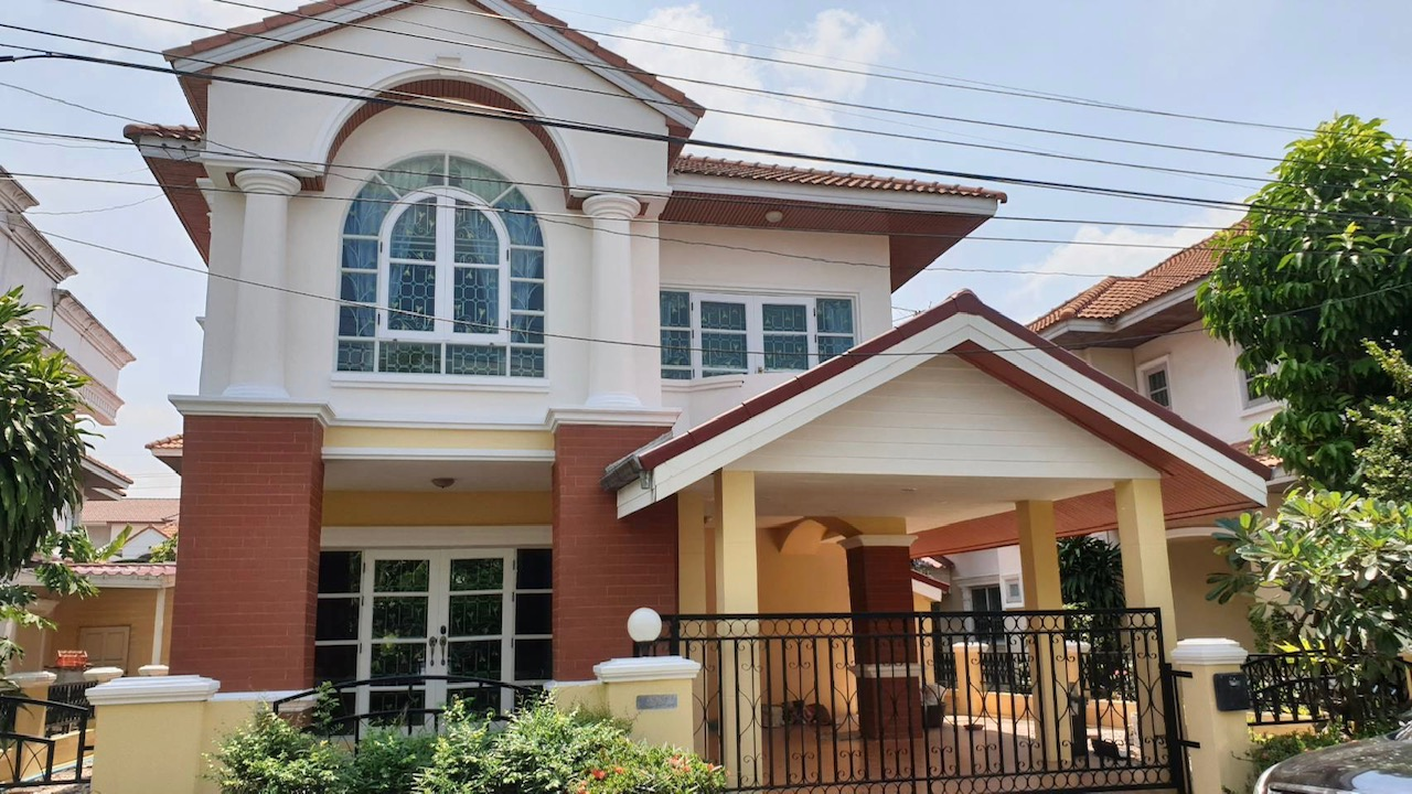 For SaleHouseLadkrabang, Suwannaphum Airport : sell!!! 2-storey detached house Suan Luang Village 1