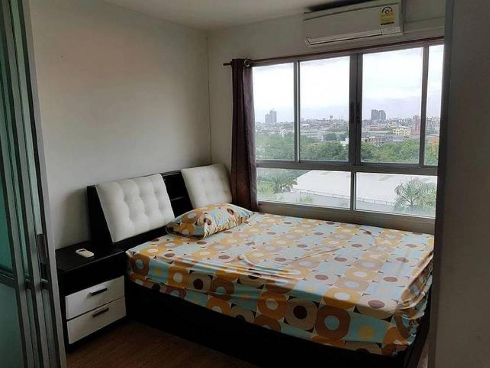 For RentCondoBangna, Lasalle, Bearing : 🍑 For rent, Lumpini Ville Lasalle-Bearing, close to BTS, size 26, with furniture and appliances.
