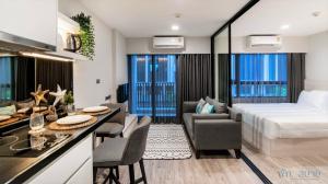 For RentCondoHua Hin, Prachuap Khiri Khan, Pran Buri : D2 Residence Huahin - 30 sq.m 1 Bed, Fully furnished (Private Washing Mahcine) + Close to Bluport