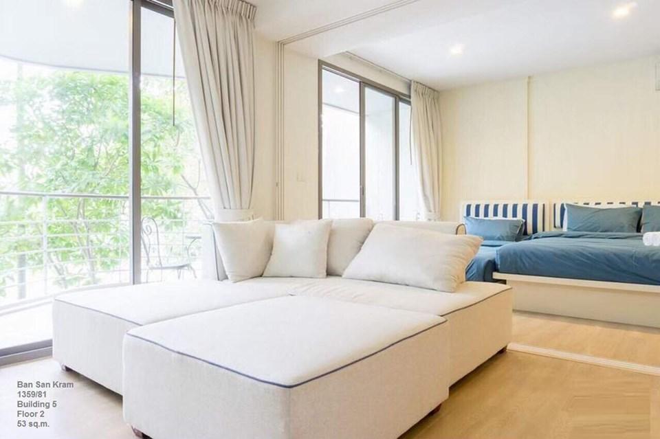 ขายคอนโดชะอำ เพชรบุรี : ขาย คอนโด บ้านแสนคราม ชั้นที่ 2 ตึก 5 ห้องสวย วิวสระว่ายน้ำ (63-0410-45)