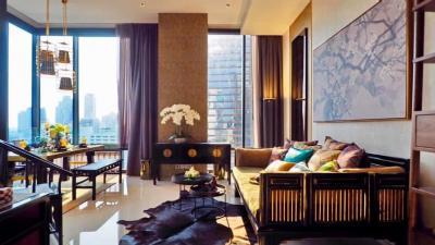 For RentCondoSilom, Saladaeng, Bangrak : For rent, beautiful room, ready to move in, 2 bedrooms, 86 sq m., corner room, ASHTON SILOM, call 062-339-3663