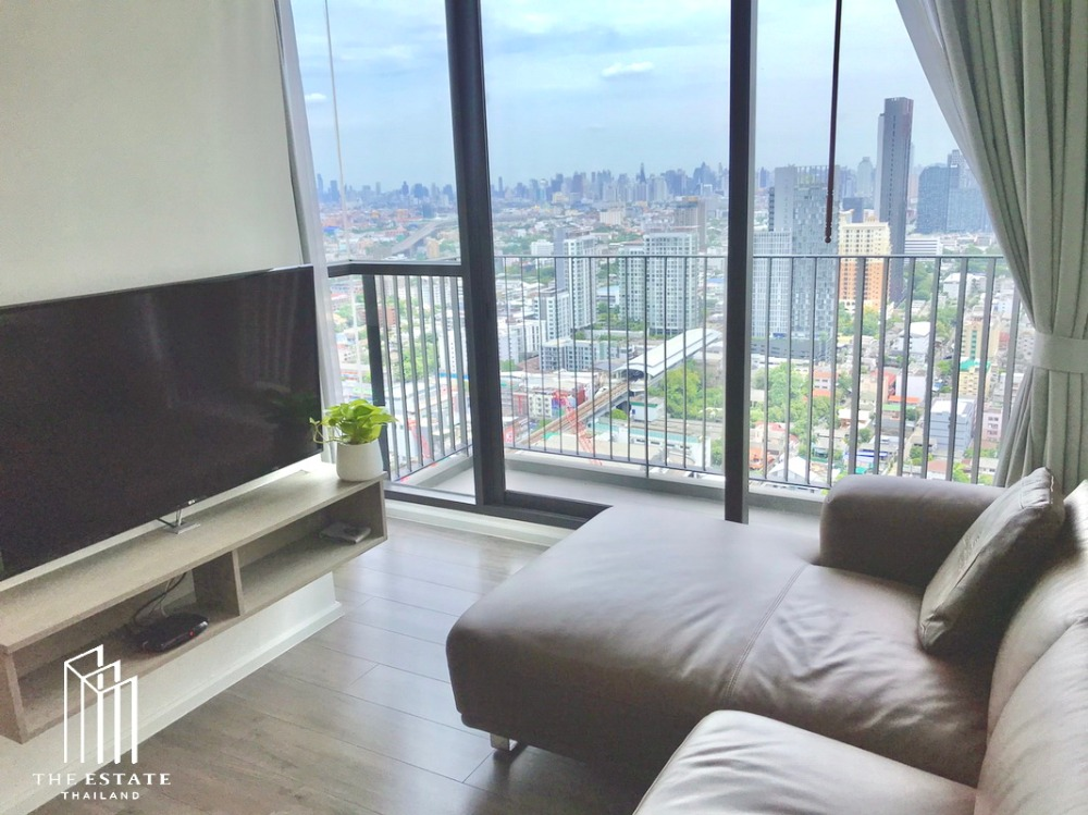 For RentCondoOnnut, Udomsuk : Condo for RENT * Whizdom Essence, 30+ high floors, north corner, fully furnished, ready to move in @ 37,000 baht.