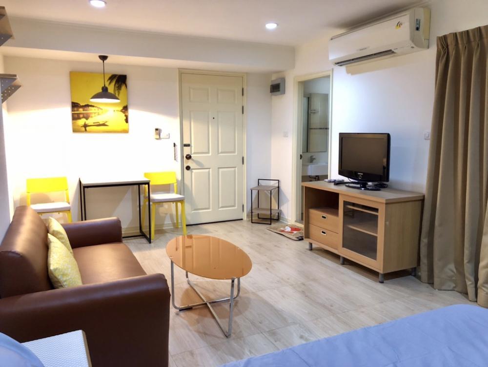 For RentCondoRamkhamhaeng, Hua Mak : Lumpini Ramkhamhaeng 44 Studio 31 sqm, 16th floor, Building A 6,500 baht. 064-959-8900