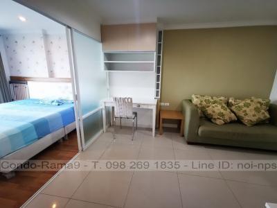 เช่าคอนโดพระราม 9 เพชรบุรีตัดใหม่ : RENT !! Condo Lumpini Place, MRT Rama 9, 1 Bed, A Bl., 14 Fl., Area 37 sq.m., Rent 12,000 .-