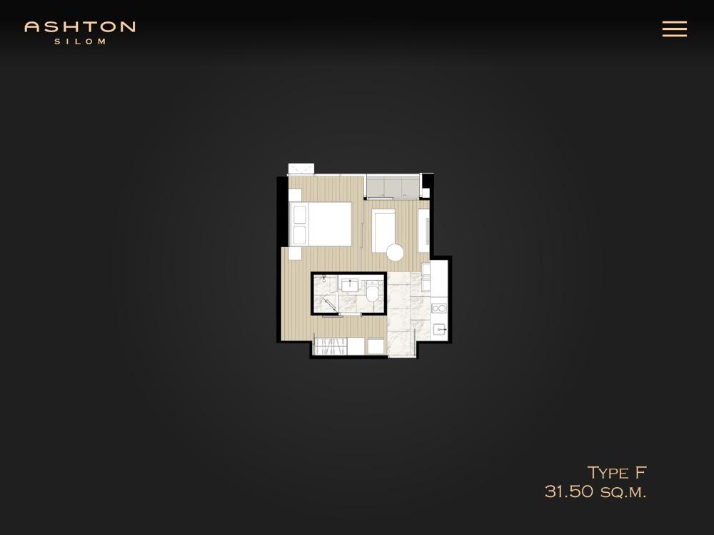 ขายคอนโดสีลม บางรัก : -:- ราคาดีที่สุดในตึก -:- Ashton Silom 1Bed 31sqm. ชั้นสูงทิศตะวันออก 6.99MB เท่านั้น