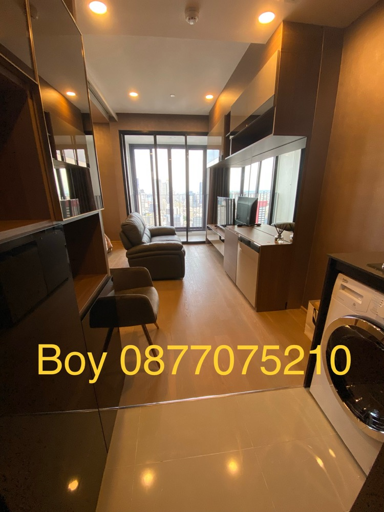 For RentCondoSiam Paragon ,Chulalongkorn,Samyan : For rent, Ashton Chula-Silom, 1 bedroom, 34 square meters, newly furnished, high floor, beautiful view