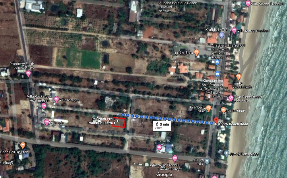 For SaleLandCha am, Hua Hin : !!! land for sale !!! at Pranburi - Total 324 SQ.M. - Near Villa Maroc/200 Metre to the beach