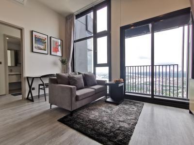 For RentCondoOnnut, Udomsuk : For Rent (For Rent) The Line Sukhumvit 101 1 Bedroom 33 sqm. Floor 33, Corner room, Bang Krachao view