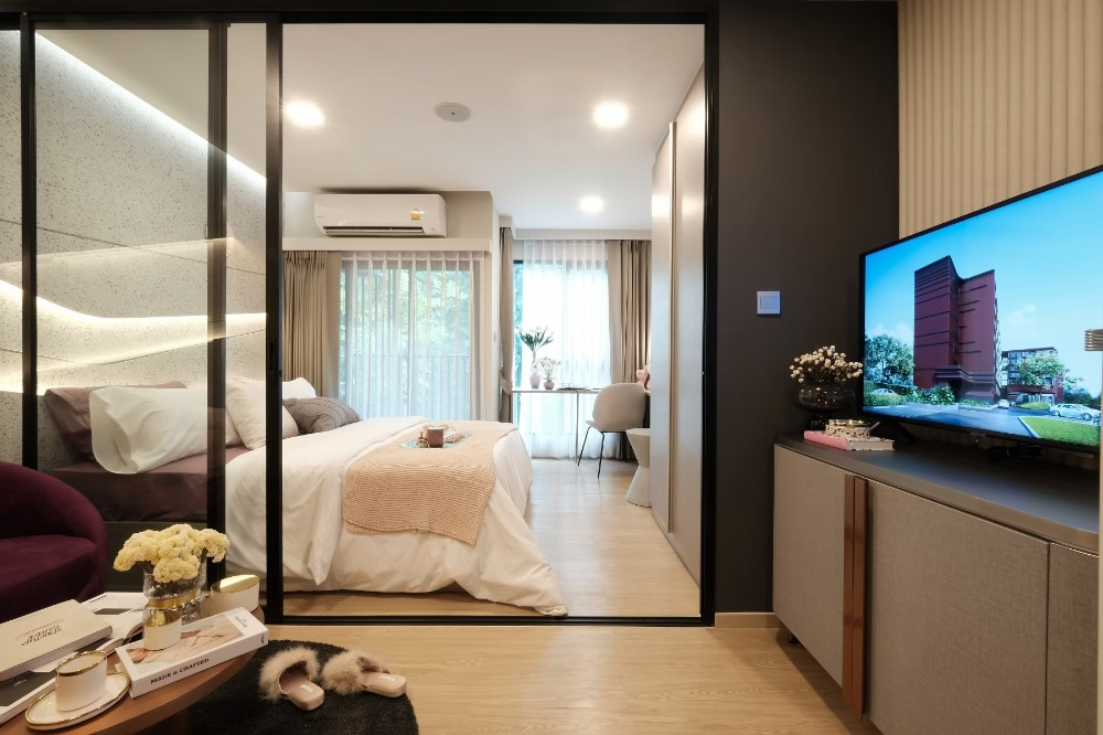 Sale DownCondoRangsit, Patumtani : Down payment + KFU Condo, 1 bedroom, outside project price 1,530,000 baht