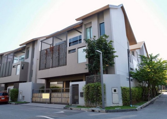 For SaleHouseYothinpattana,CDC : AE0234 3-storey detached house for sale, Private Nirvana Residence North 'n East 63 sq m, corner house, beautiful decoration.