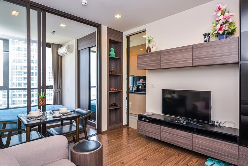 For SaleCondoOnnut, Udomsuk : M2576-Sale and rent condo The Line Sukhumvit 71, near Phra Khanong BTS, ready to move in ++